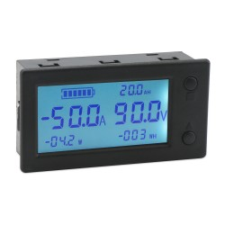 LCD Digital Coulometer, Digital Meter DC 0~300V 200A/999AH/999KW/999KWH Coulometer Precision Battery Tester for Lead-acid/Lithium batteries etc