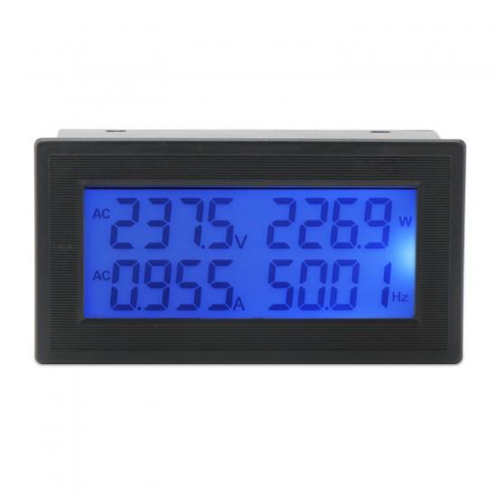 Digital Multimeter, AC 60.00~500.00V/20A LCD Multifunction Panel Meter AC 110V 220V 380V Multimeter/Monitor/Tester 6 in 1 with Built-in Shunt