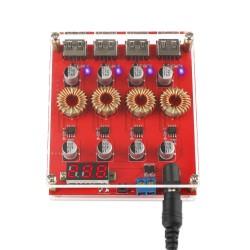 Digital Display Buck Voltage Regulator, DC-DC Power Transformer Module 9V 12V 24V to 5V Support QC 3.0 Fast Charging