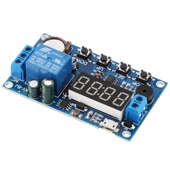 Relay Module 5.0V~60V Real Time Relay Time Control Switch 24 Hour Timing Control Clock Synchronization Time Control Delay Module