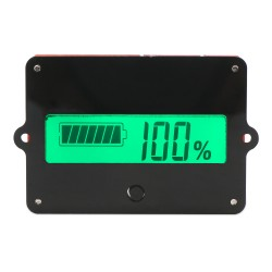 Battery Monitor Meter, LCD Lead Acid Lithium-ion Battery Capacity Tester DC 8-63V 12V 24V 36V 48V Gauge Panel Battery Status Indicator Monitor Electric Quantity Detector Reader
