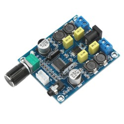 Digital Amplifier Board, TPA3118D2 Digital Audio Amp Board DC 12V-28V Dual Channel 45W+45W Portable Stereo Power Amplifier