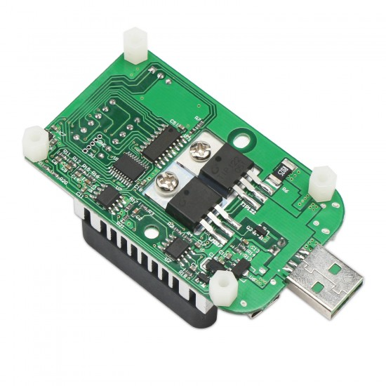 USB Load Tester Electronic Load Resistor Module 25W LD25 USB & Type C Interface Discharge Adjustable Constant Current 0.25A-4A Intelligent Temperature Control with Cooling Fan