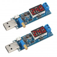 DROK 2pcs/lot USB Power Supply Module DC 3.5~12V to 1.2~24V Buck Boost Converter Voltage Regulator Module