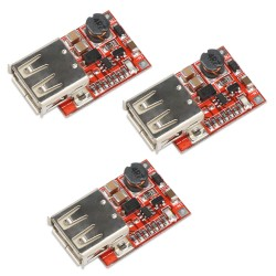 Boost Converter Module, 3pcs USB DC-DC Step up 3V to 5V 1A Convert Voltage Regulator Board for MP3 MP4 Phone Charging