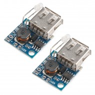 USB Mobile Power Supply Board, 2pcs Mini DC-DC Step Up Converter 3V to 5V 2A Boost Voltage Regulator Module with Battery Indicator for Tablet PC Phone Charging