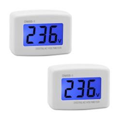 Digital LCD Voltmeter Flat Plug AC 80-300V Voltage Panel Power Line Volt Test Monitor Gauge Meter AC 110V 220V Tester Gauge
