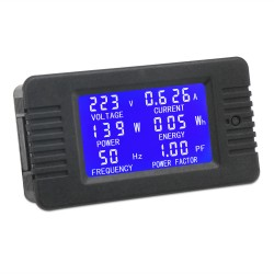 AC Digital Multimeter AC 80~260V 10A Current Voltage Amperage Power Energy Frequency Factor Meter LCD Digital Display Voltmeter Ammeter Multimeter 110V 220V Volt Amp Tester Monitor Detector