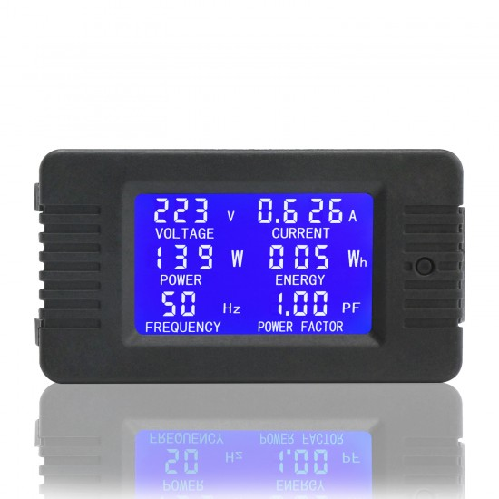 Digital AC Multimeter AC 80~260V 100A Meter Current Voltage Amperage Power Energy Frequency Factor LCD Detector with Current Transformer CT