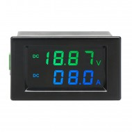 Digital Voltmeter Ammeter DC 0~199.9V 10A Digital Multimeter Gauge Panel Meter DC 12V 24V Voltage Current Meter Tester