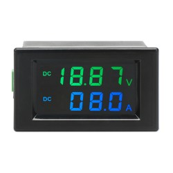 Digital Voltmeter Ammeter DC 0~199.9V 10A Digital Multimeter Gauge Panel Meter DC 12V 24V Voltage Current Meter Tester Monitor