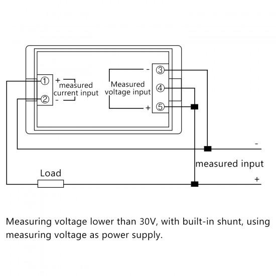Digital Voltmeter Ammeter DC 0~199.9V 10A Digital Multimeter Gauge Panel Meter DC 12V 24V Voltage Current Meter Tester