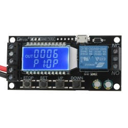 Adjustable Time Delay Relay Controller Module 5V 12V 24V Delay-off Cycle Timer Micro USB 5V Power Supply Board