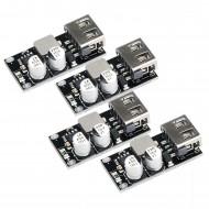 4pcs USB Buck Converter DC 6-32V 12V 24V to 5V QC 3.0 Charging Power Supply Voltage Regulator Volt Transformer