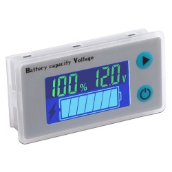 Digital Battery Indicator 12V 10-100V Voltmeter Battery Detector Capacity Temperature Display Panel Meter