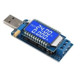 Adjustable USB Power Module DC5V to 3.3V 9V 12V 24V Buck Boost Converter Battery Voltage Current LCD Tester Meter