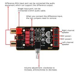 DIY Speaker Kit 15W Amplifier Board with 2pcs 15W 4Ohm Speakers 2.0 Dual Channel Digital Audio Power Amp Module