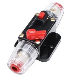 Circuit Breaker DC 12V 20A/60A/80A/150A Car Audio Inline Fuse Holder Switches Auto Reset Breaker for System Protection