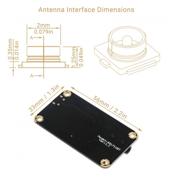 Bluetooth Receiver Board Wireless Audio Receive Module DC 5V-35V BT 4.2 Decoder Electronics Music Receiver with Case