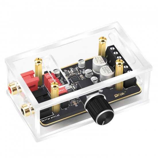 Amplifier Module 15W+15W Dual Channel DC 8-26V Digital Audio Stereo Class D Amplifier Board with Protective Case