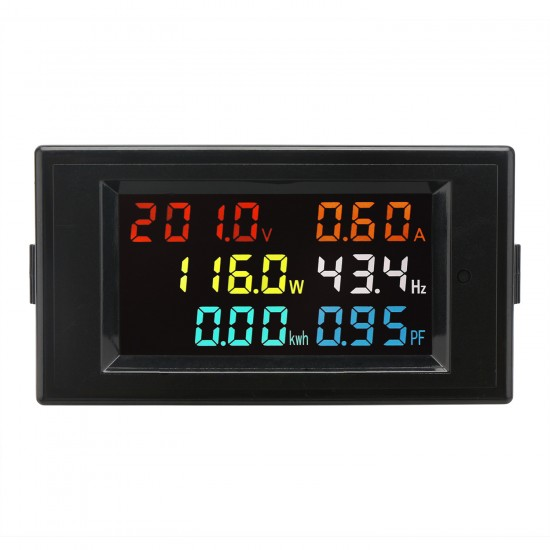 Digital AC Display Multimeter 80-300V 100A Voltage Current Power Factor Frequency Electric Energy LCD Monitor