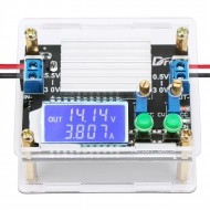 Adjustable Buck Boost Converter Board DC 5.5-30V to 0.5-30V 4A High Power Supply Regulator with Case LCD Display
