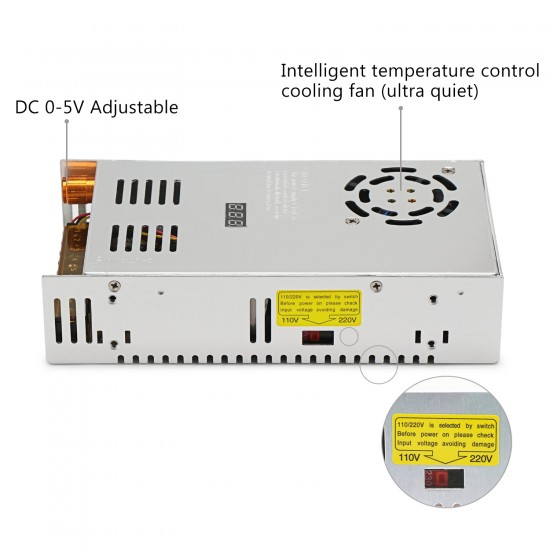 480W AC Power Supply Switching AC110~220V to DC0 ~ 5V 60A Led Display Adjustable Voltage Regulator Power Adapter