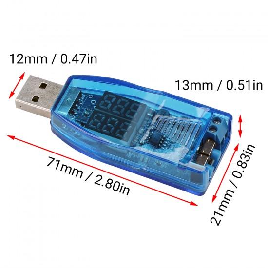 Adjustable USB Buck Boost Power Supply Module 3.5V-12V to 1.0V-24V 3W Voltage Regulator with Dual LED Display