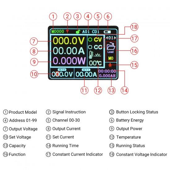 Wire-less Voltage Regulator DC 0-75V to 0-60V 8A Programmable Numerical Controller voltage converter