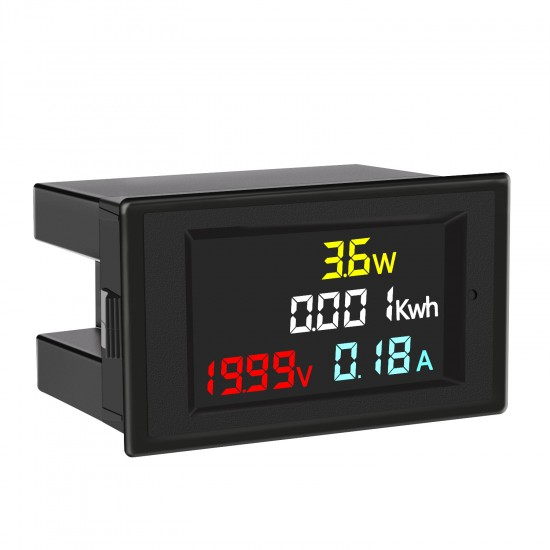 Digital Voltage Current Meter DC 7-20V 0-20A Volt Amp Power Energy Monitor Meter Voltmeter Ammeter Multimeter