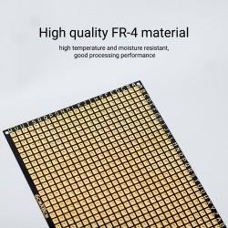 5pcs Prototype PCB Board 2.36x3.15inch Perf Breadboard Electronics Single-sided Gold Plated Prototype Matrix Circuit Board
