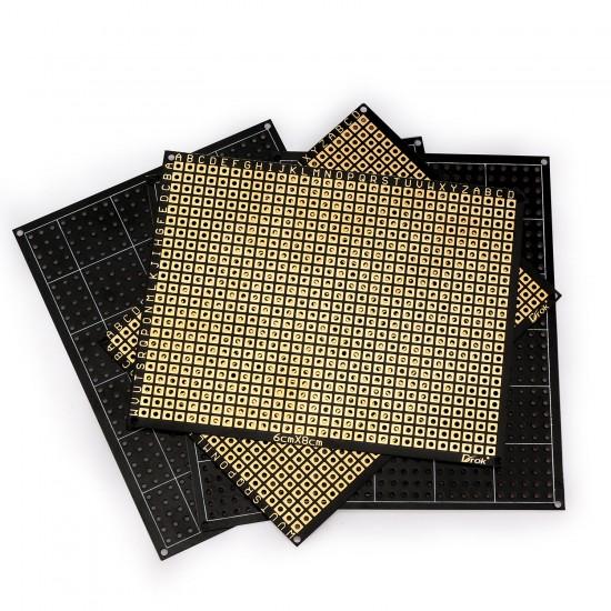 10pcs Prototype PCB Board 2.36*3.15inch Perf Breadboard Electronics Single-sided Gold Plated Prototype Matrix Circuit Board