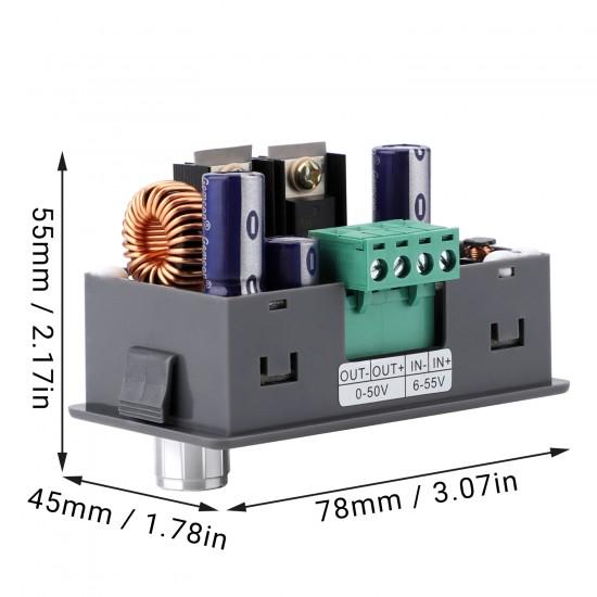 Digital Panel Meter Multifunctional Buck Converter DC 6V-55V to DC 0-50V 5A 250W Current Volt Power Energy Current Watt Meter