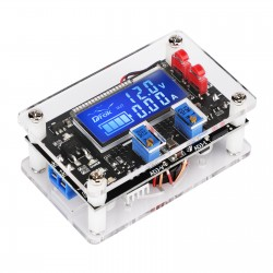 Digital Buck Boost Voltage Regulator DC 6-30V to DC 0.5-30V 5V 12V 24V Adjustable Voltage Converter with USB Port Case LCD Display