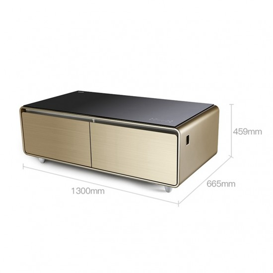 Intelligent Music Refrigerator Multifunctional Build-in Bluetooth Speaker with Digital Control LED Display for Home/Office