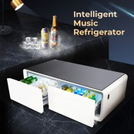 Multifunctional Intelligent Music Refrigerator Build-in Bluetooth Speaker with Digital Control LED Display for Home/Office